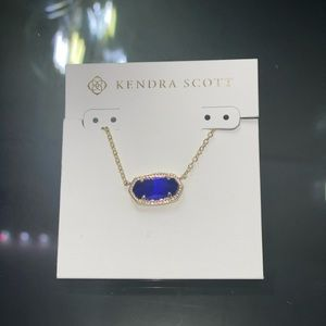 Kendra Scott Elisa Gold Pendent Necklace Blue
